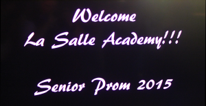 Rhode Island Disc Jockey Services La Salle Academy Video Introduction Screen Text
