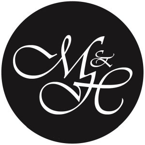 RI-MA-CT Wedding DJ & RI-MA-CT DJ Services & RI-MA-CT Disc Jockeys Monogram-Single-Black-White